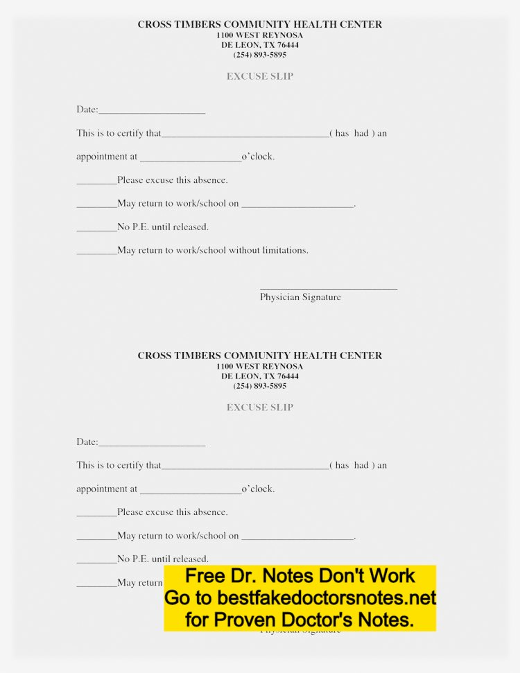photograph regarding Printable Doctors Note for Work identify Phony Physicians Take note Template for Operate or Faculty PDF