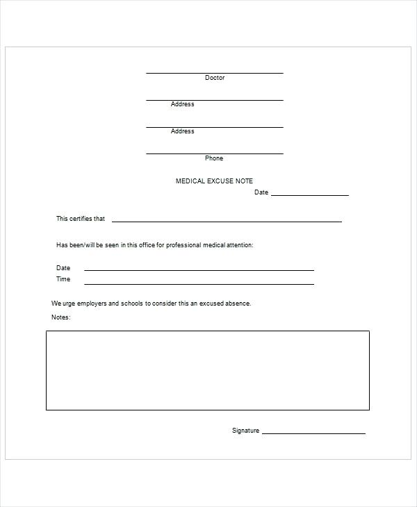 Fake Doctors Note Template For Work Or School PDF